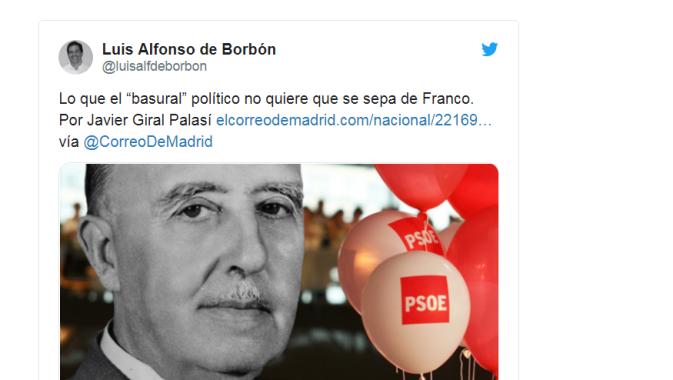 luis Alfonso de Borbón cortada
